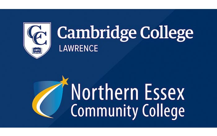 Cambridge College and Northern Essex Community College logos
