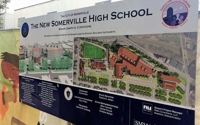 Somerville High School sign