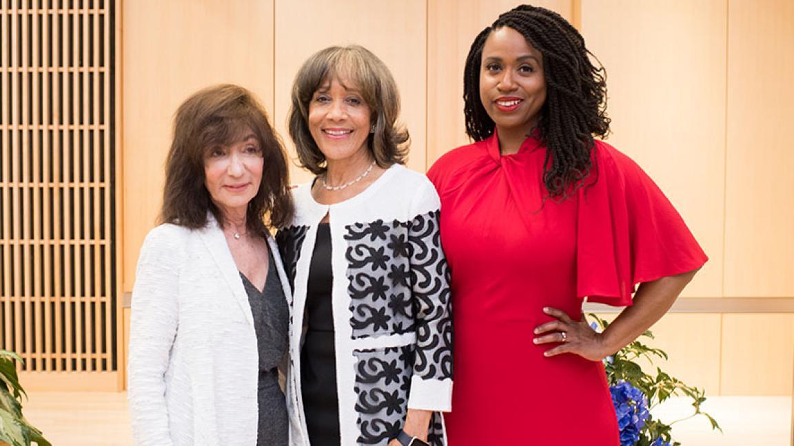 Ayanna Pressley, Jackie Bezos and Deborah Jackson