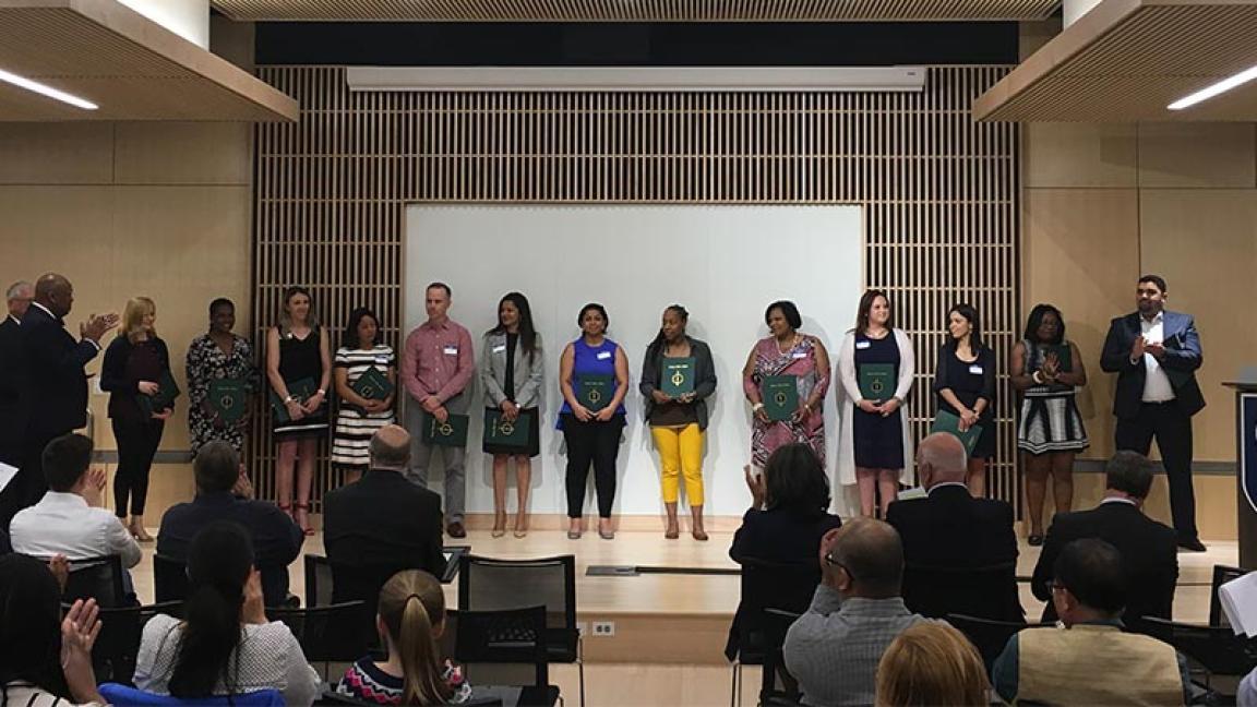 Sigma Beta Delta inductees at Cambridge College